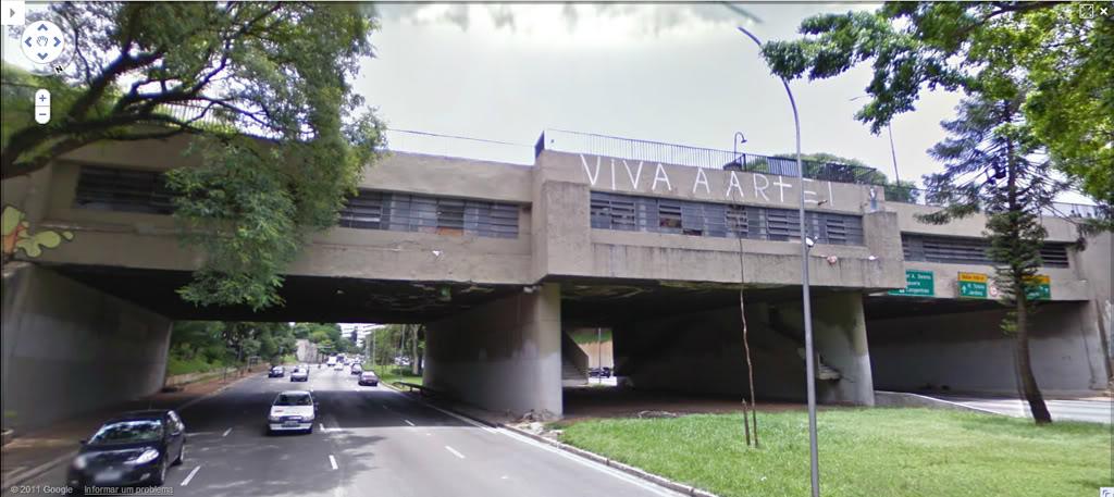 Vista atual do Viaduto Pedroso