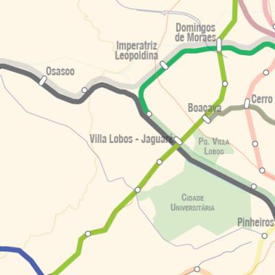 Futuras linhas do Metrô SP e CPTM: CPTM Planeja linha entre Piqueri e Butantã