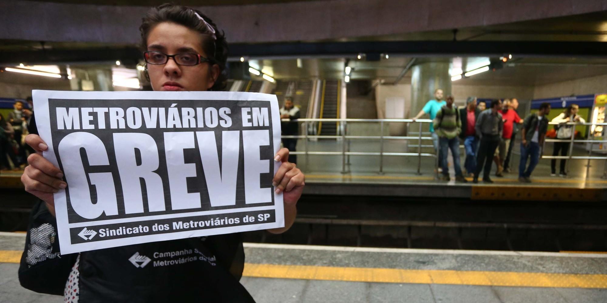 Greve de metroviários em São Paulo