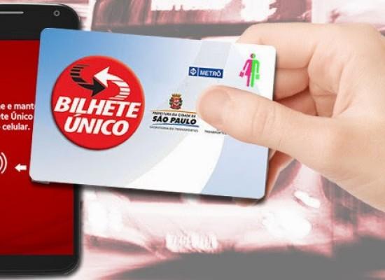 Bilhete Único pode ser carregado pelo celular com cartão de debito e boleto