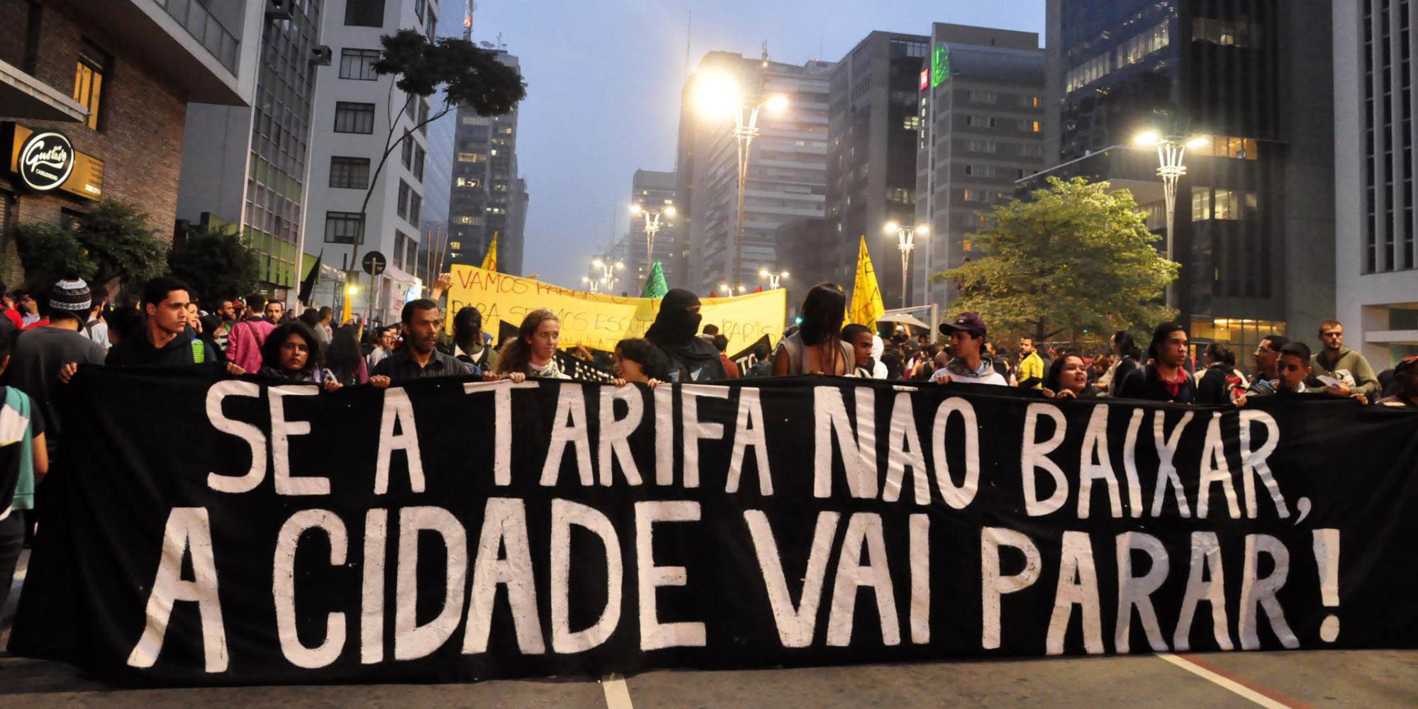 Protesto contra aumento da tarifa em SP