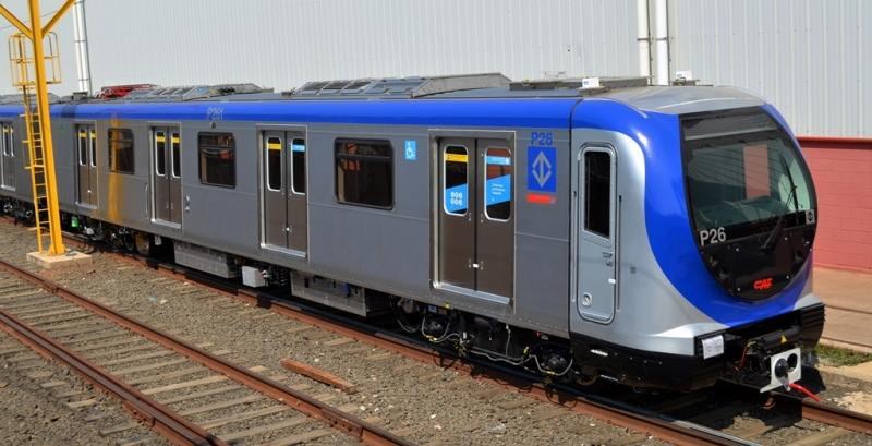 Novo trem da Linha 5 – Foto de Alexandre Augusto Pisciottano.