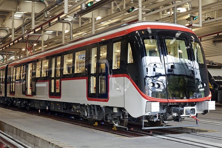 Trem sem condutor fabricado pela Caf para Santiago