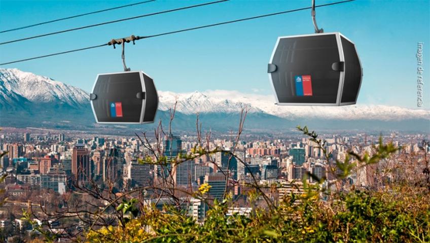 Projeto do novo teleférico de Santiago, no Chile