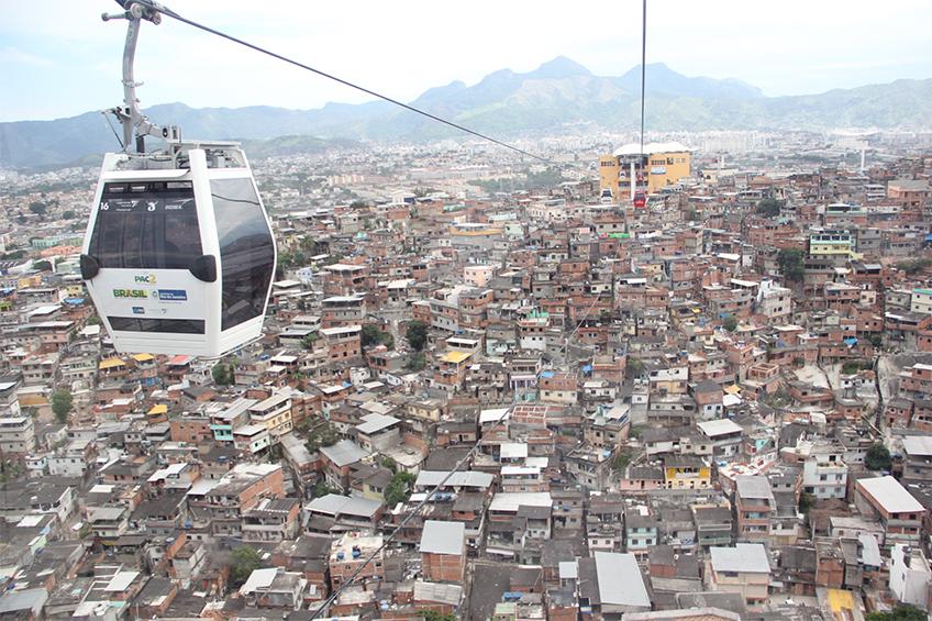 Teleférico do Alemão, no Rio de Janeiro