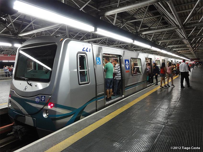 Frota G na Linha 3-Vermelha - Foto de Tiago Costa