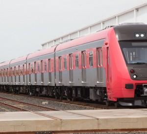 Trem em Araraquara na fábrica da Rotem