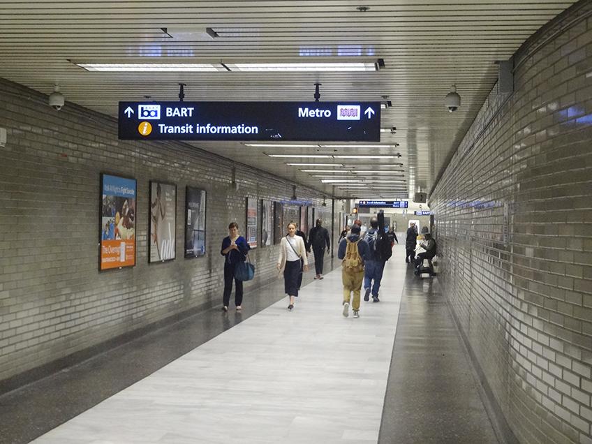 Integração entre o Muni Metro e o sistema BART | Foto: Caio Lobo
