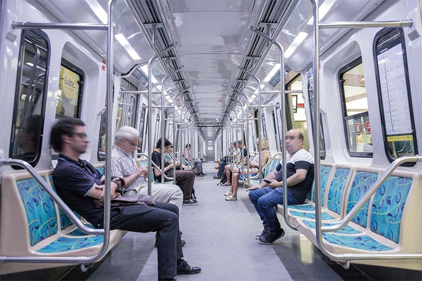 Trem em operação em Buenos Aires