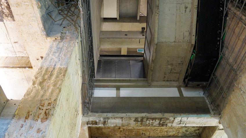 Vista das escadas rolantes da Linha 2-Verde   Foto: Renato Lobo
