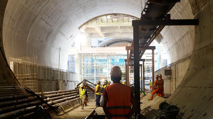 Vista do túnel para a estação Chácara Klabin   Foto: Renato Lobo