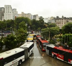 Terminal Parque Dom Pedro II em dia de paralisação | Foto: Rovena Rosa/Agência Brasil | Fotos Públicas