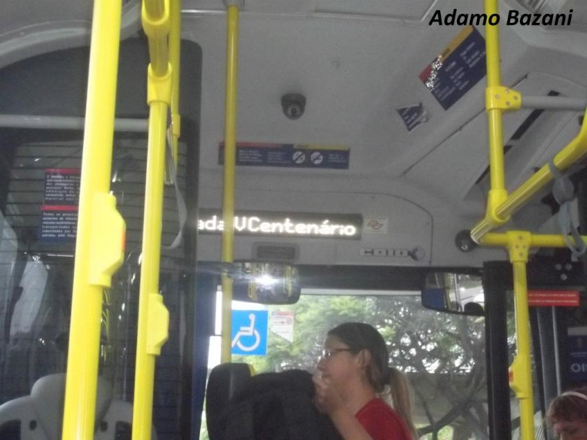 Painel com as próximas estações | Foto: Adamo Bazani - Diário do Transporte