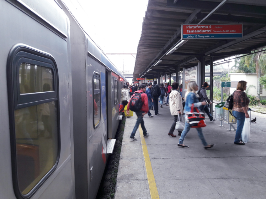 Desembarque na Estação Prefeito Celso Daniel - Santo André | Foto: Renato Lobo