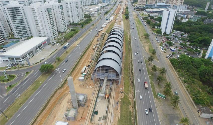 Obras na Estação Flamboyant | Divulgação CCR Metrô Bahia