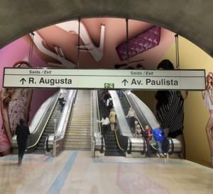 metrô publicidade