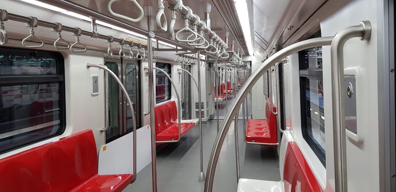 Interior dos novos trens, fabricados pela Alstom