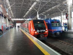 Série 9000 na Estação Brás, Linha 13 - Connect.